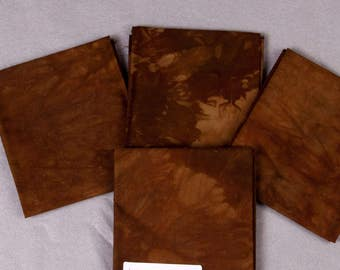 Brown Hand-Dyed Quilting Cotton Fat Quarter