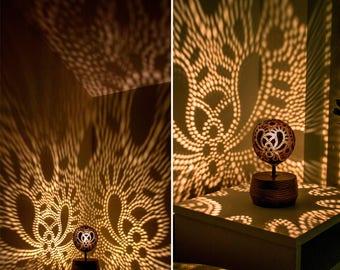 Decorative light, centerpiece, Wedding lighting, Party light, Wedding gift, Romantic lighting, Ceremony lighting, Coconut lamp