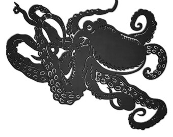 MASSIVE Highly Detailed Octopus Raw Steel