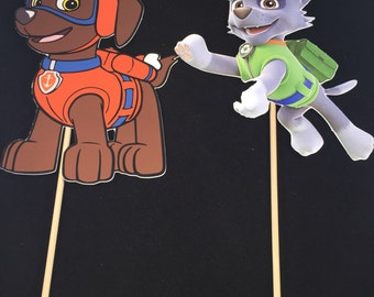 Paw Patrol Centerpieces- Marshall, Ruder, Skye,Chase,Rocky, Rubble, Everest and Zuma