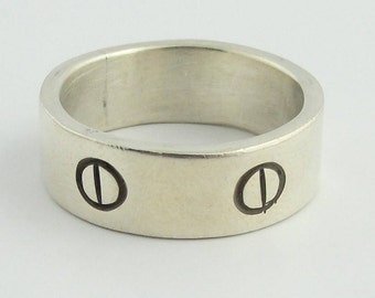 Mens Vintage Silver Band- Sterling Silver