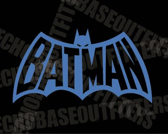 Batman 70's comic logo vinyl cut decal
