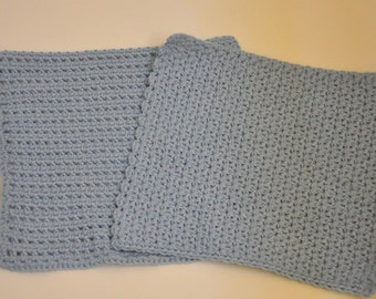 Crocheted Textured Wash Cloths - Set of 2