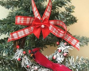 Cardinal Christmas ornaments Country Christmas Ornaments Cardinal ornaments Bird Ornament Red Bird Ornament Handmade Ornament Cardinal decor