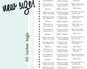 Footnotes | Comments on Daily Life Planner Stickers (#109)