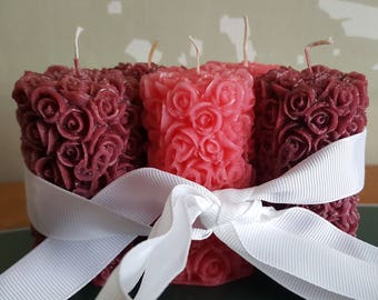 Set of candles. Colours and scent may be vary by your wish.