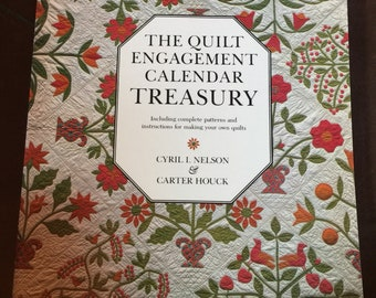 Vintage 1982 The Quilt Engagement Calendar Treasury Book by Cyril Nelson