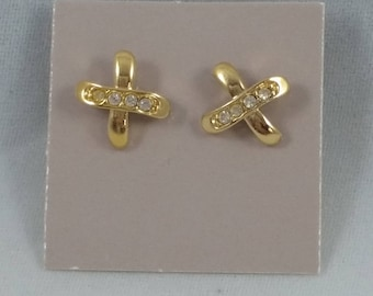 Avon 1988 Sparkle Kiss Earrings with surgical steel posts