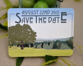 Fruitlands Valley Harvard Massachusetts Wedding Save The Date Postcard - BP1