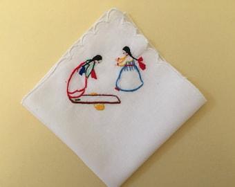 "Vintage Handkerchief / Child's ""Flavia"""