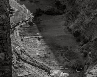Antelope House Overlook, Canyon de Chelly, 2017: A Black and White Photograph 12x15