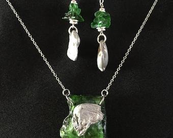 Lake Superior Beach Glass Necklace Set