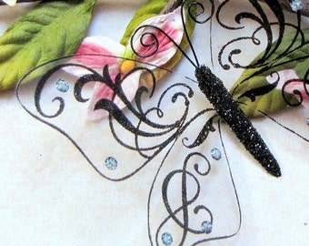 Glass Butterfly Embellishments G8