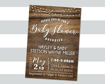 Twinkle Lights Baby (or Bridal) Shower Invitation