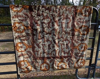 """VINTAGE CHASE HORSE Lap Robe Blanket Carriage Sleigh 54"""" x 66"""" Wrap Around at Outside Fire Pit"""
