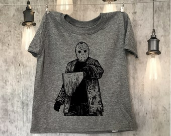 Jason Voorhees - Horror - Kid - Toddler - Adult - Fun Tee - Shirt - Friday the 13th