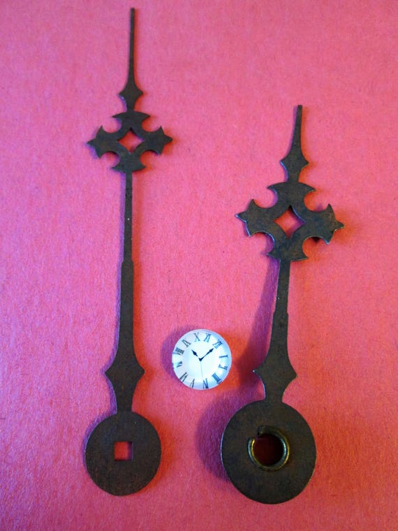 1 Pair of Large Antique Maltese Style Steel Clock hands for your Clock Projects, Steampunk Art, Jewelry Crafts