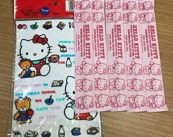 Vintage 1990 Sanrio Hello Kitty Kawaii Wooden Chopsticks Made in Japan 5 pairs