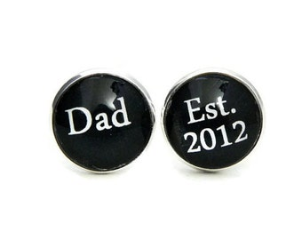 First Fathers Day Gift from Daughter, Fathers Day Gift from Baby Girl, Fathers Day Cuff Links, Custom Father's Day Gift for Dad Daughter