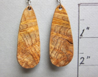 Rare Australia Silky Oak Exotic Wood handcrafted ExoticWoodJewelryAnd repurposed, ecofriendly.
