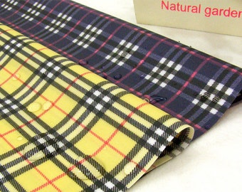 Waterproof Cotton Blend Fabric Yellow or Navy By The Yard