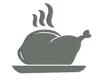 Embroidery design machine silhouette roasted chicken Silhouette instant download