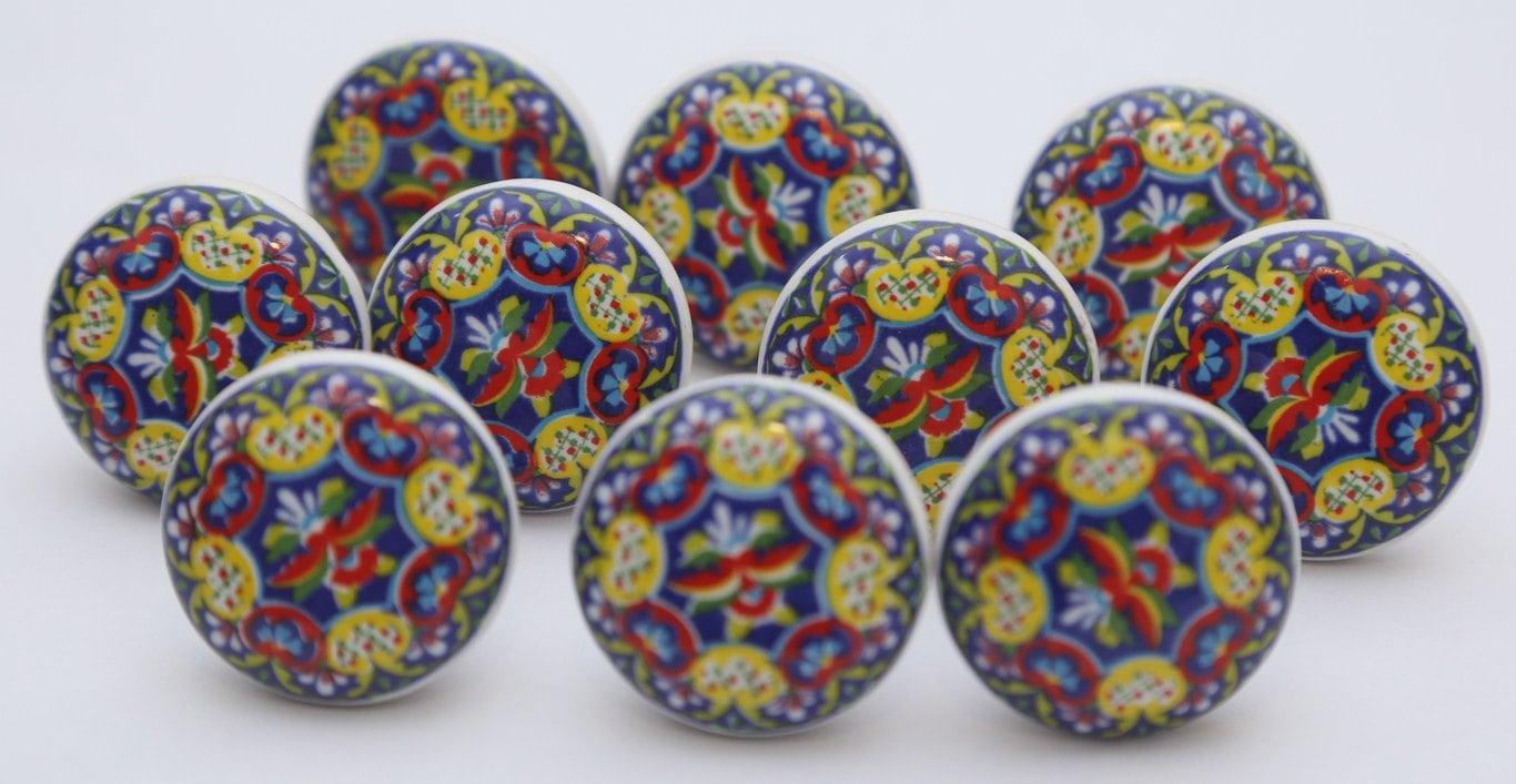Bunte Keramik Knöpfe Keramik Knäufe Küchenschrank Schublade