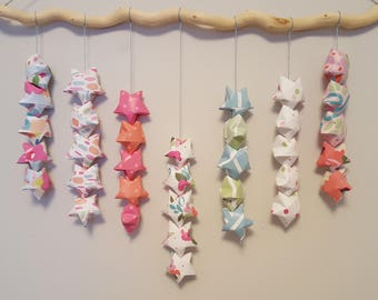 Origami Wishing Star Wall Hanging SORBET