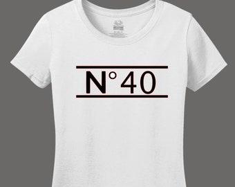 Women's 40th Birthday Shirt // Chanel Inspired Birthday Shirt // Chanel Shirt