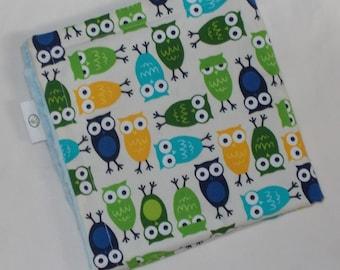 Blue Owls Minky Security Blankie Lovey