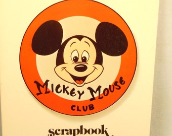 Vintage-Walt Disney Production-Mickey Mouse Club Scrapbook-