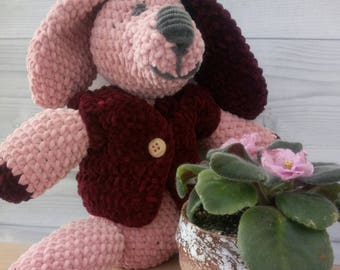 Nursery baby gift Crochet animals Plush dog Crochet Dog Stuffed animal  Crochet  puppy Stuffed dog 2018 symbol Puppy plush Dog Toy Dog gift