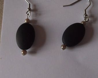 black olive earrings