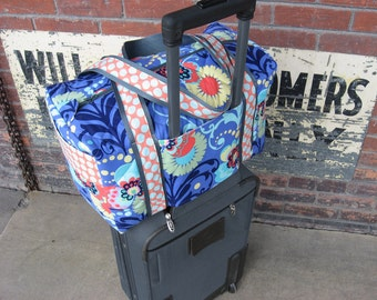 New Duffle Bag Pattern Carry on Sized Travel Duffle with Trolley Sleeve Instant  Download sewing pattern