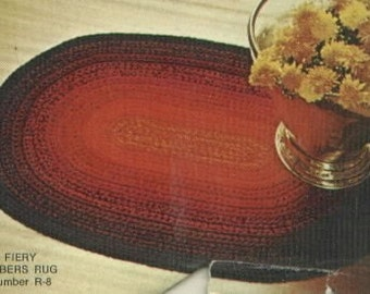 Crocheted Rug Pattern  R8  PDF - Fun for the Winter