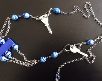 Blue original shabbat belt chain