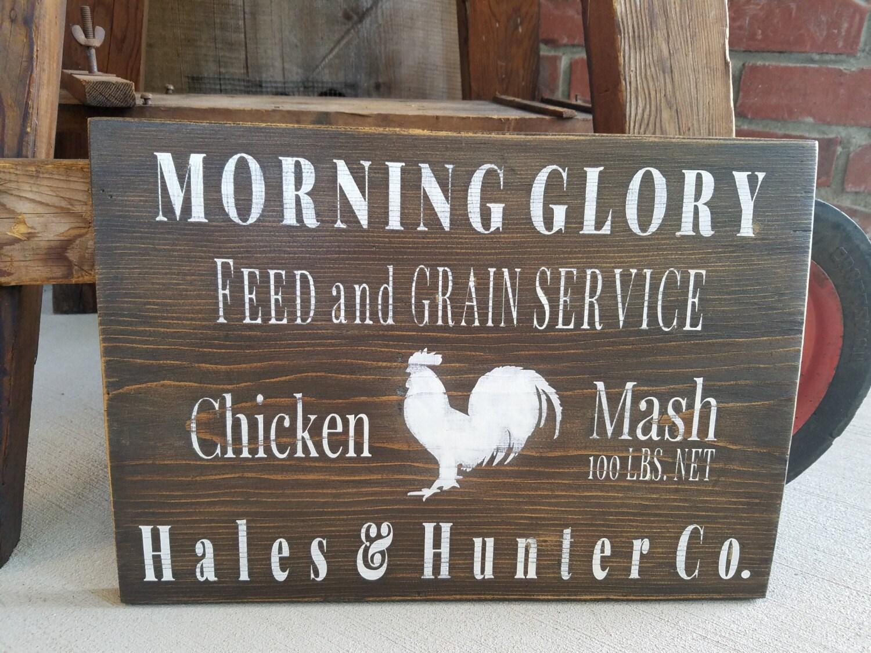 Rustikale Huhn Zeichen. Huhn-Dekor Bauernhaus Küche Zeichen