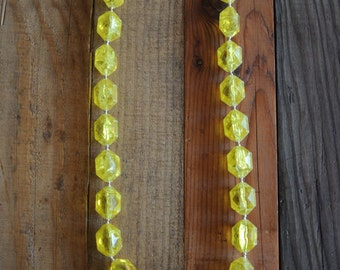 Chunky Yellow Beaded Necklace