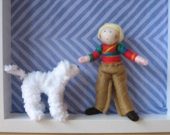 Boy and his dog set of dolls
