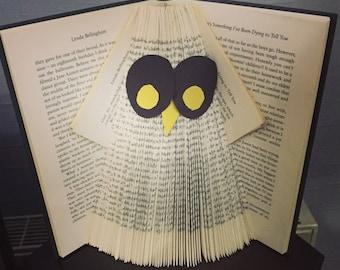Marshall's Farm Animals Ollie Owl Hand Made Decorated Gift Folded Book Art for Animal Lovers Birthday Christmas