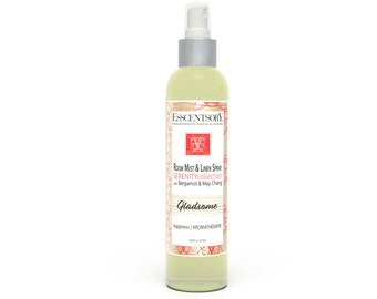 GLADSOME Room Mist & Linen Spray | Home Fragrance | Bergamot and May Chang | Air Freshener | Pure Essential Oils | Aromatherapy