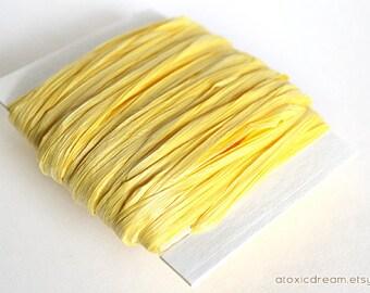 Daffodil Yellow Raffia Ribbon - 30/100 yards - 1/4 inch wide