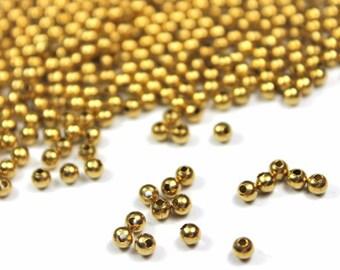 3mm Round Brass Beads 500 pcs - Raw Brass Beads