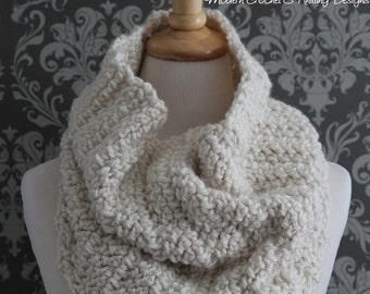 Crochet PATTERN - Digital Download Crochet Pattern - Cowl Crochet Pattern - Crochet Scarf Pattern - Infinity Scarf Crochet Pattern - PDF 423