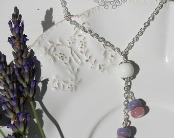 White Pearl Necklace and Pearl Pink and purple - Once Upon a Fantasy