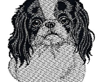 Japanese Chin Dog Embroidered Towels, Dog Towels, Personalised Towels, Japanese Chin 3
