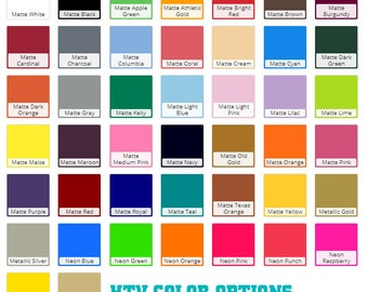 Fashion-Film Solid Color HTV Heat Transfer Vinyl for Shirts, Crafts and More! Every Color