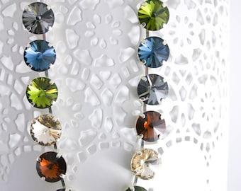 Swarovski statement necklace | statement necklace|rivoli necklace|anna wintour necklace |pageant necklace|signature necklace|12mm necklace