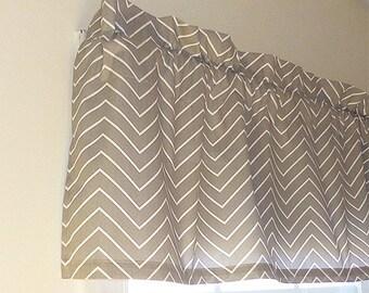 Made to Order Window Curtains, Herringbone Grey Window Valance, Custom Made Window Treatment, Choose your Window Valance