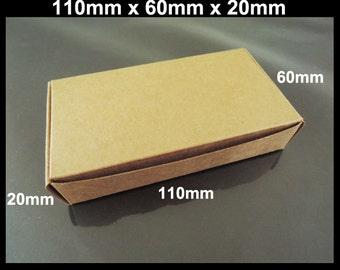 Kraft Paper Boxes - 10pcs Brown Kraft Box Paper Box Gift Boxes Gift Wrapping 110mm x 60mm x 20mm